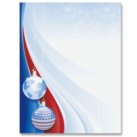 patriotic christmas border papers | paperdirect