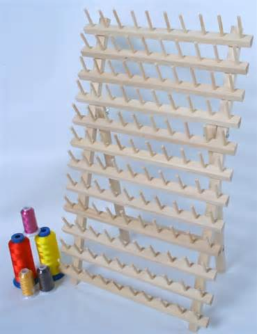 Embroidery Thread Rack new 120 cones wooden thread rack for machine embroidery
