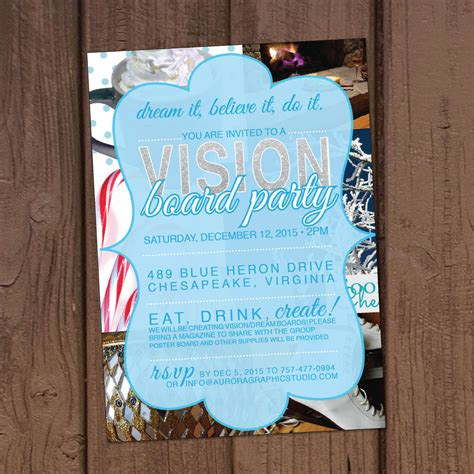 Party Invitation Template Vision Board Party Invitation Invitation Templates Free Download Vision Board Invitation Template