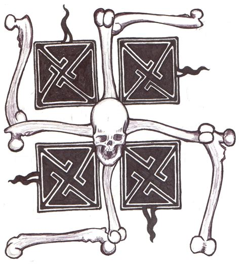nazi tattoos designs skull swastika by ppunker on deviantart