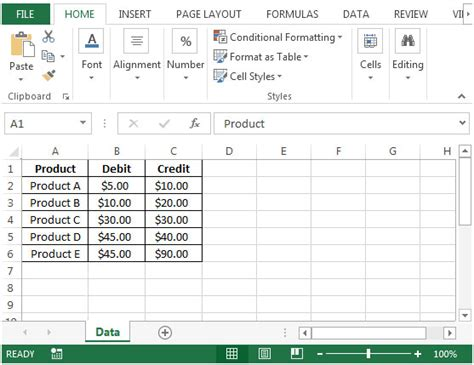 Debit Credit Formula Excel Adding A Running Balance Calculation Column In Microsoft Excel 2010 Microsoft Excel Tips From