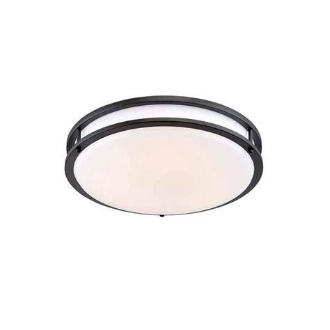 Envirolite 10 In Oil Rubbed Bronze White Low Profile Led Low Profile Ceiling Lighting