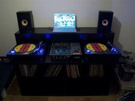 Ikea Corner Bench Hack bedroom dj with vinyl collection dj setup at fundjstuff com