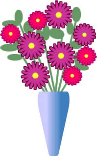 Flowers In A Vase Clipart by Flower Arrangements In Vases Clipart