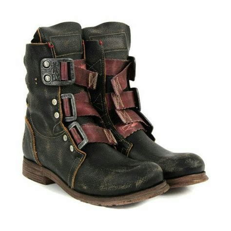 apocalypse boots shoes combat boots post apocalyptic leather boots
