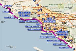 pch california map pch 1 greater los angeles
