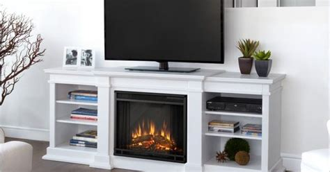 real fresno electric fireplace white real fresno electric fireplace tv stand in white