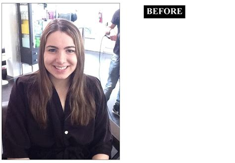 long hair makeovers before and after collarbone grazing the new it length neil george