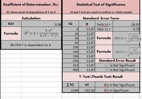 calculator regression regression analysis calculator download