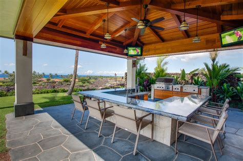 Tropical Outdoor Kitchen Designs Hawaii 1 Tropical Patio Other Metro By Norelco Cabinets Ltd