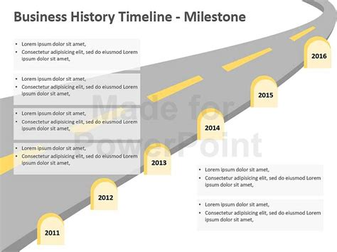 Business History Timeline Templates Milestone Ppt Template