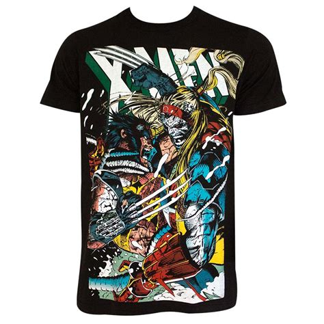 X Tshirt Mens Black by S Black Wolverine Vs Omega T Shirt