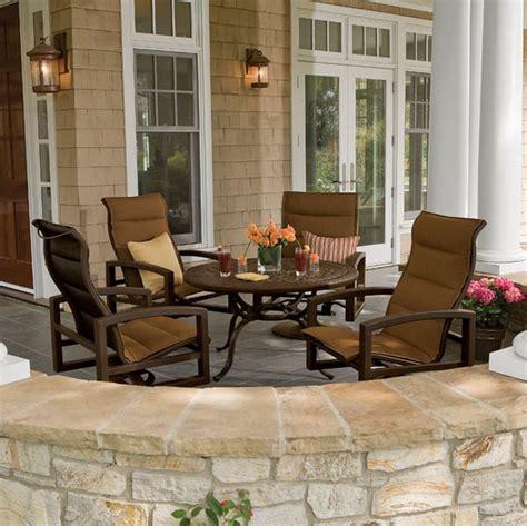tropitone patio furniture lakeside padded sling patio furniture by tropitone
