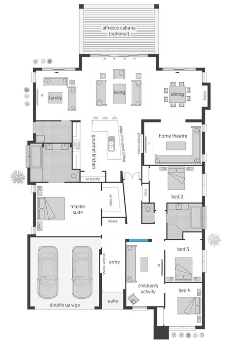 home design layout plan beach house floorplans mcdonald jones homes