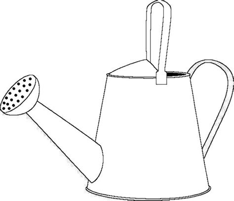 how to draw a template watering can colouring clipart best