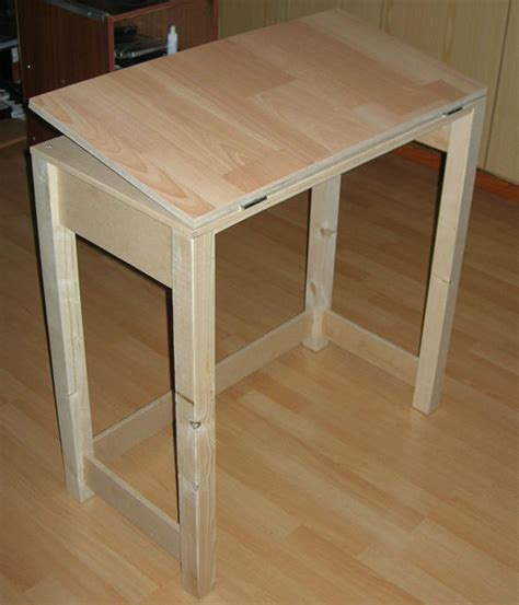 collapsible drafting table diy table projects