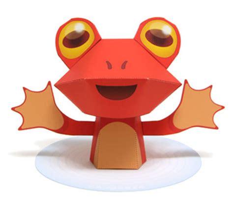 Papercraft Frog - paper nihon yomigae ru papercraft4u free