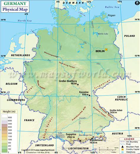 germany physical map germany physical map mountain range