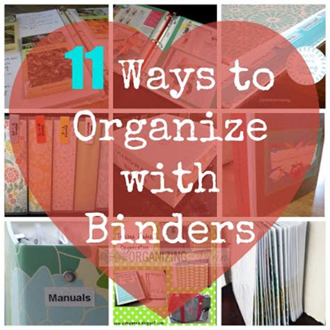 11 Ways to organize with binders   Organizing Made Fun: 11