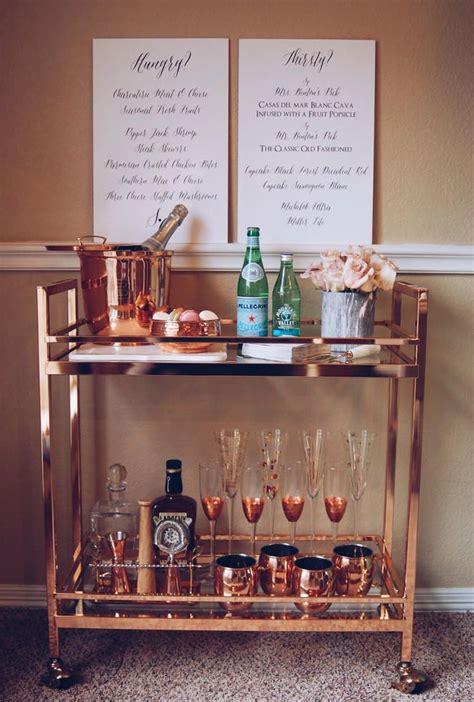 home bar design tool rose gold bar cart copper bar cart bar cart styling