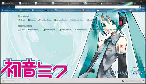 theme google chrome miku metal vista miku chrome theme by lightning sabre on deviantart