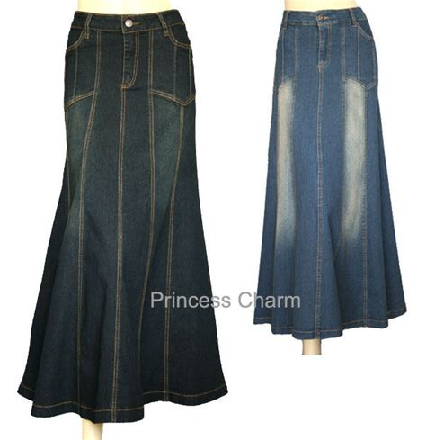 princess charm black denim skirt plus size 26 24 22