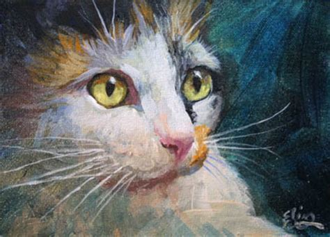 cat painting pics original and acrylic paintings by elin pendleton