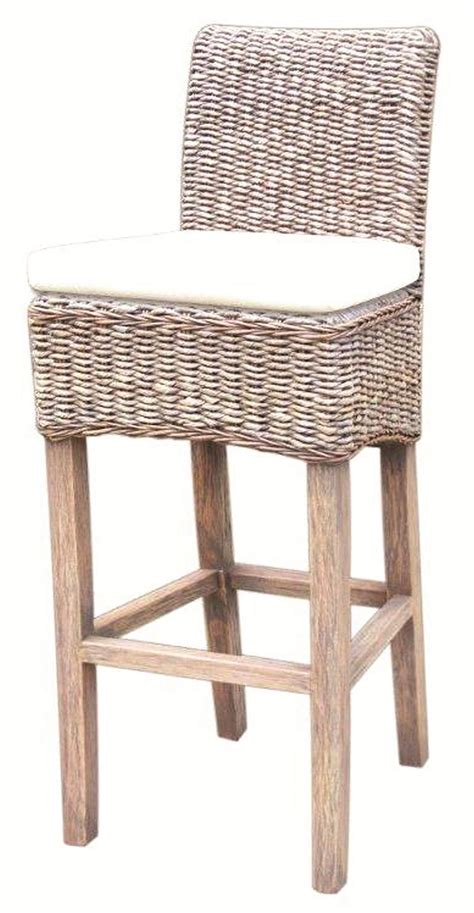 woven bar stools by four four grass roots woven banana leaf barstool w