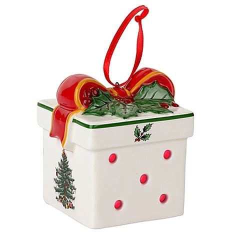 Christmas Tree Shop Bed Bath And Beyond Gift Card - spode 174 christmas tree led gift box ornament bed bath beyond