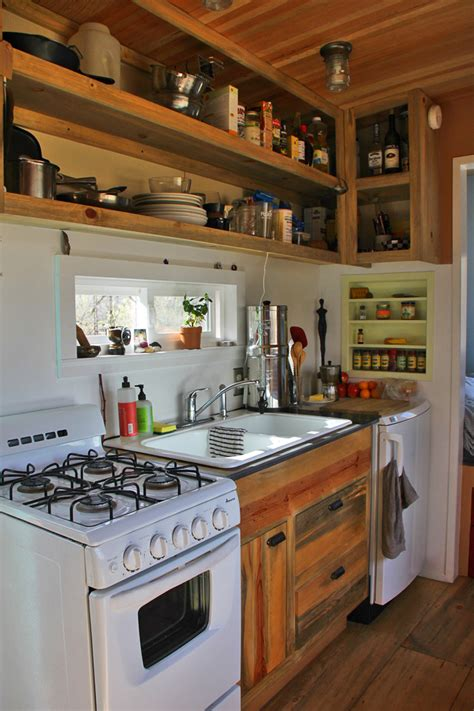 tiny kitchens steely cottage tiny house swoon