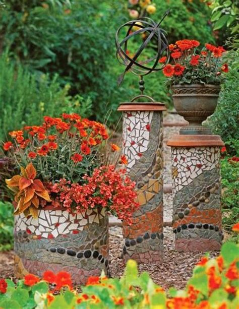 Mosaic Ideas For The Garden Mosaic Ideas For The Garden Gardens Mosaics And Home Decor
