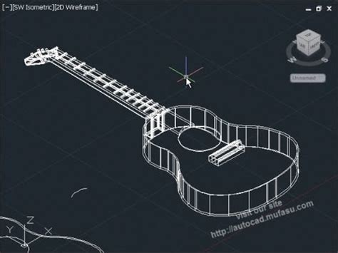 solidworks tutorial how to make guitar autocad 2014 3d tutorial guitar basic youtube