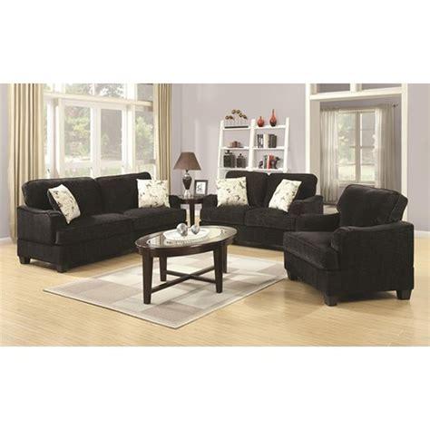 Sofa Yasmin coaster yasmine 503782 black fabric loveseat a sofa furniture outlet los angeles ca