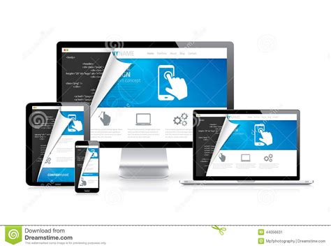 html images responsive responsive web design vector with html code script in