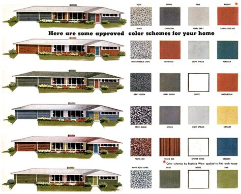 exterior paint color combinations images mad for mid century exterior mid century color palette