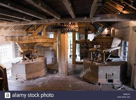 uk cheshire stretton medieval mill interior water powered
