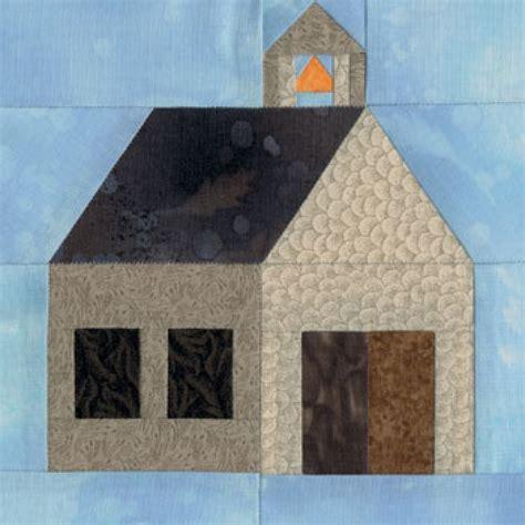 schoolhouse quilt block pattern