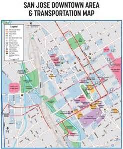 Downtown San Jose Map by San Jose Maps California U S Maps Of San Jose