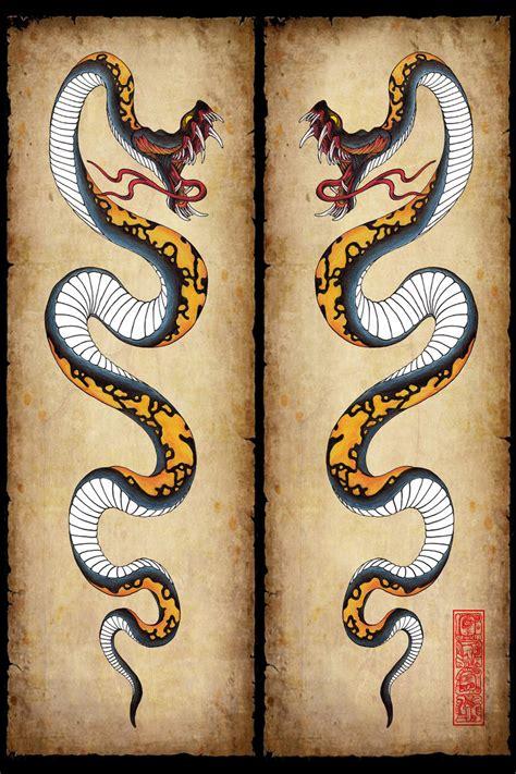 Snake Tattoo Design By Burke5 On Deviantart Free Snake Tattoos Designs