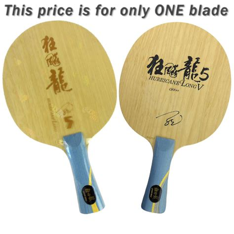 how long is a table tennis table aliexpress com buy dhs hurricane long v 5 wooden 2