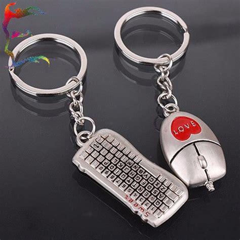 Gantungan Keyboard jual gantungan kunci mouse keyboard sepasang keychain anti