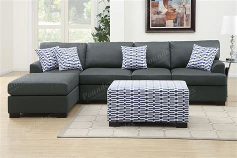 Reversible Chaise Sectional Sofa Slate Black Reversible Chaise Sectional Sofa Ottoman