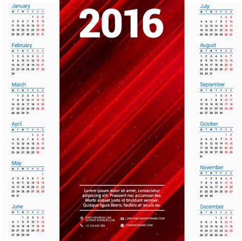 design calendar free 2016 2016 company calendar creative design vector 08 vector