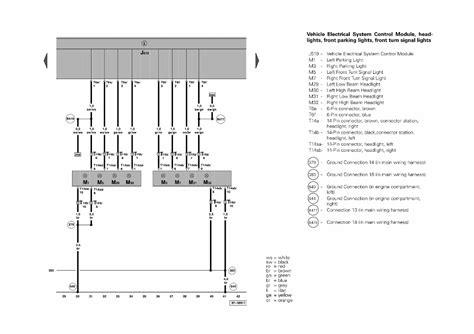 2004 vw touareg hid parking light headlight wiring diagram