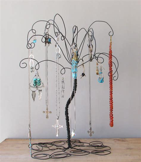 wire jewelry tree stand earring rings bracelets