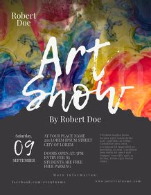 art exhibition customizable design templates