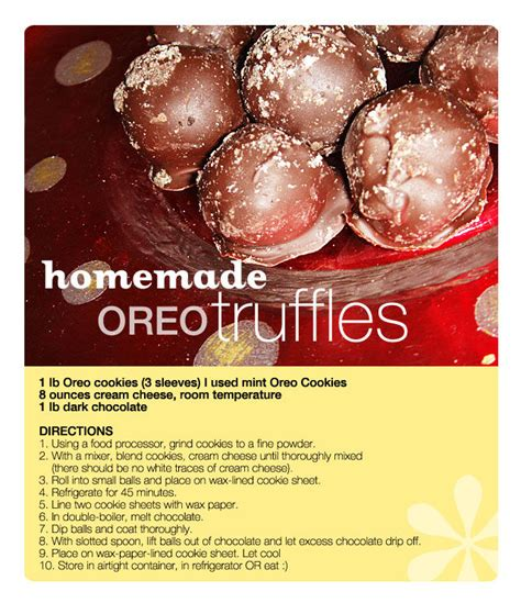 Handmade Chocolate Truffles Recipe - chocolate oreo truffles recipe pictures photos