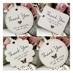 personalized white wedding favor thank you gift tags set a 5 designs gifts cards