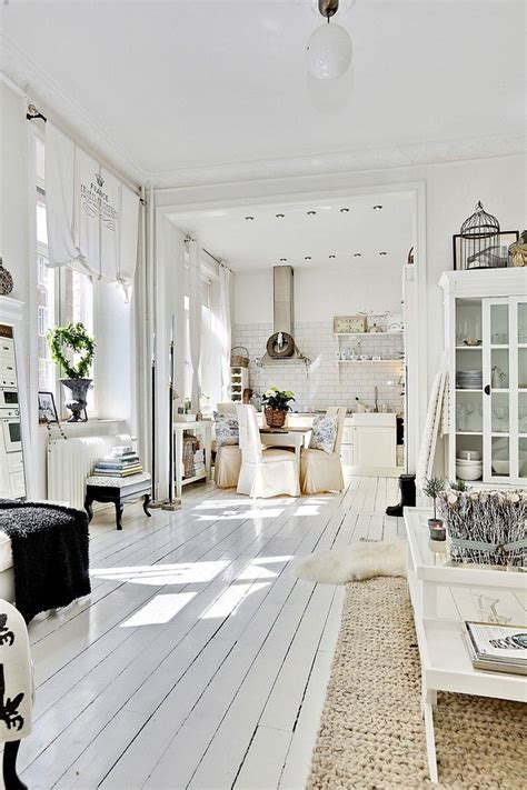 all white home interiors country tarzı dekorasyon