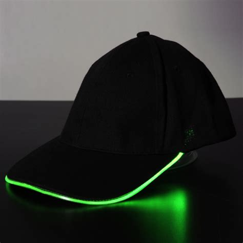 hat with led lights led light glow sports athletic black fabric